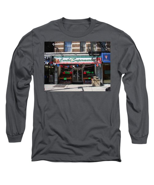 Long Sleeve T-Shirt featuring the photograph Caribe Supermarket by Cole Thompson