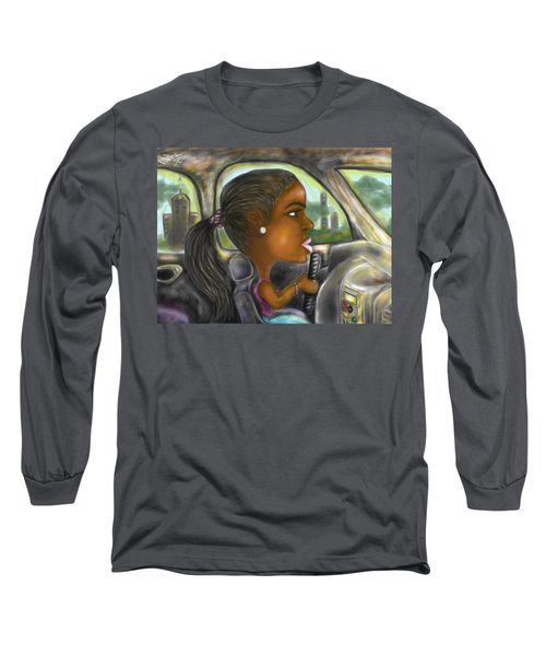 Caricature Ride With Jay Long Sleeve T-Shirt