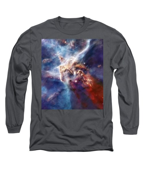 Carina Nebula Pillar Long Sleeve T-Shirt by Jennifer Rondinelli Reilly - Fine Art Photography