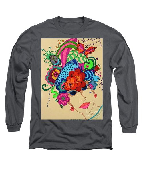 Long Sleeve T-Shirt featuring the painting Carmen by Alison Caltrider