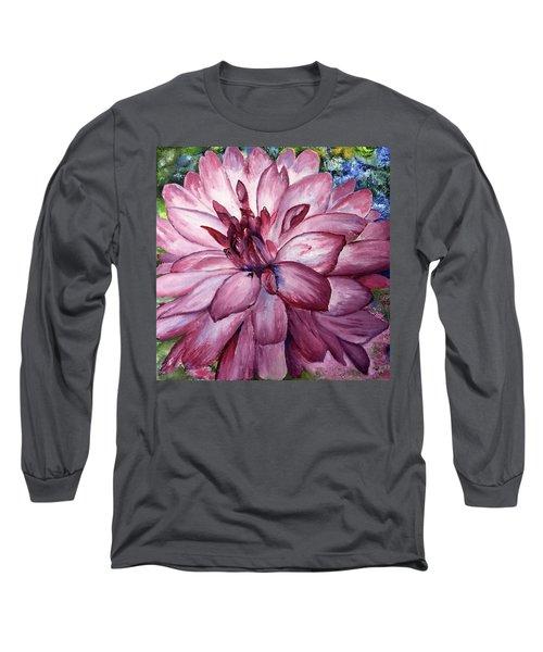 Carmine Dahlia Long Sleeve T-Shirt
