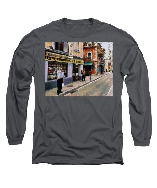 Long Sleeve T-Shirt featuring the painting Carrer Dosrius by Kai Saarto