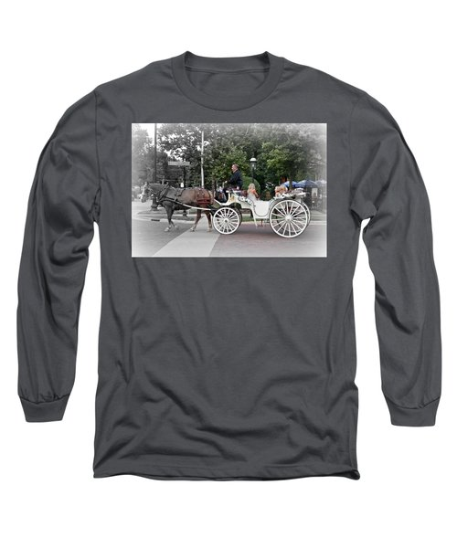 Carriage Ride Into Yesteryear Long Sleeve T-Shirt