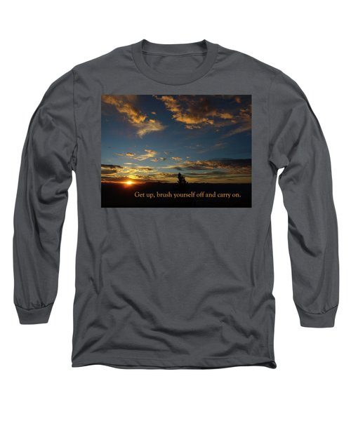 Long Sleeve T-Shirt featuring the photograph Carry On Sunrise by DeeLon Merritt