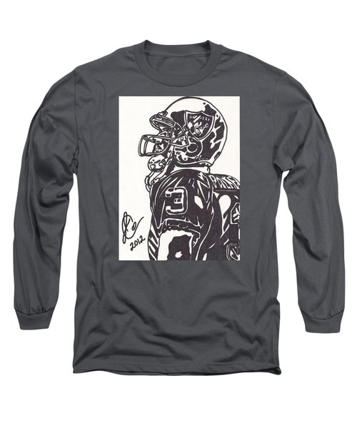 Long Sleeve T-Shirt featuring the drawing Carson Palmer 1 by Jeremiah Colley