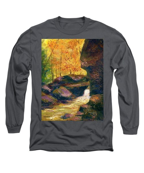 Long Sleeve T-Shirt featuring the painting Carter Caves Kentucky by Gail Kirtz