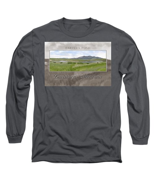 Long Sleeve T-Shirt featuring the digital art Carter's Pond by Susan Kinney