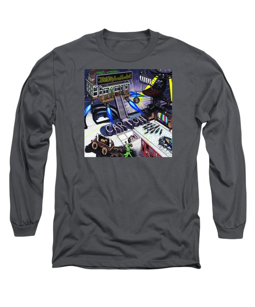 Carton Album Cover Artwork Front Long Sleeve T-Shirt by Richie Montgomery