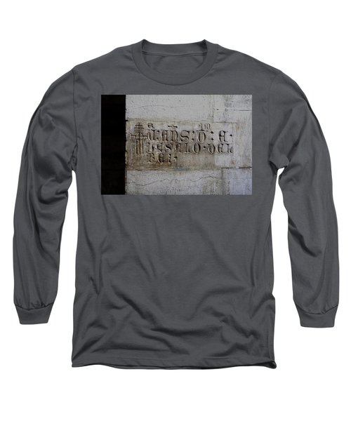 Long Sleeve T-Shirt featuring the photograph Carved In Stone by Lorraine Devon Wilke