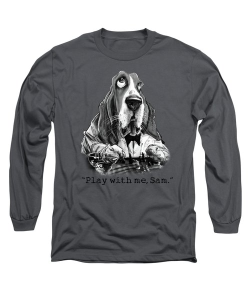 Casablanca Basset Hound Caricature Art Print Long Sleeve T-Shirt