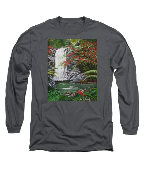 Cascada Tropical Long Sleeve T-Shirt