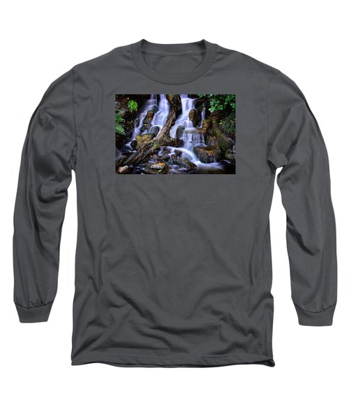 Long Sleeve T-Shirt featuring the photograph Cascades by Harry Spitz