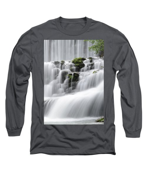 Long Sleeve T-Shirt featuring the photograph Cascading Mirror Lake Falls by Renee Hardison