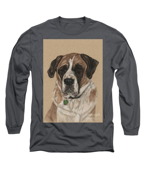 Long Sleeve T-Shirt featuring the drawing Casey  by Meagan  Visser