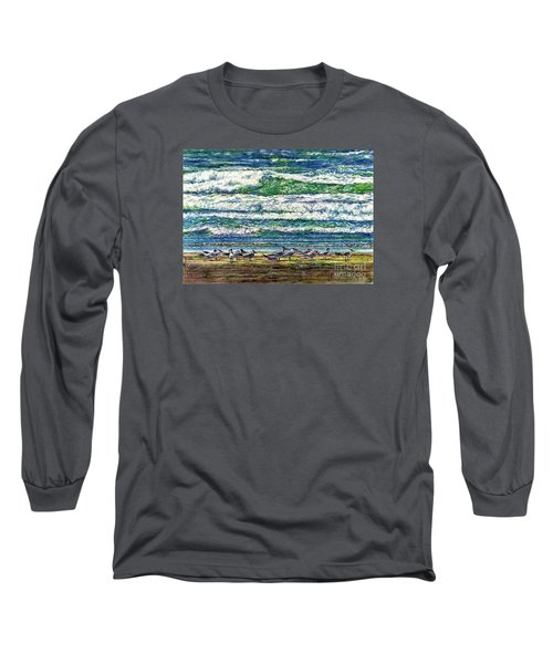 Caspian Terns By The Ocean Long Sleeve T-Shirt