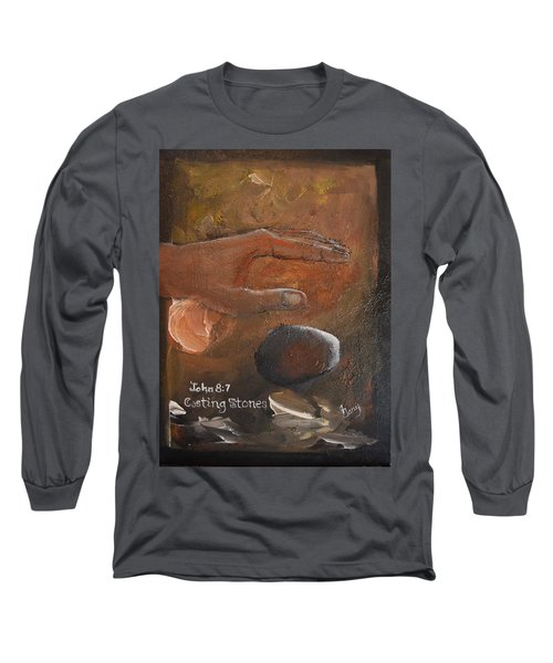 Casting Stones Long Sleeve T-Shirt by Gary Smith