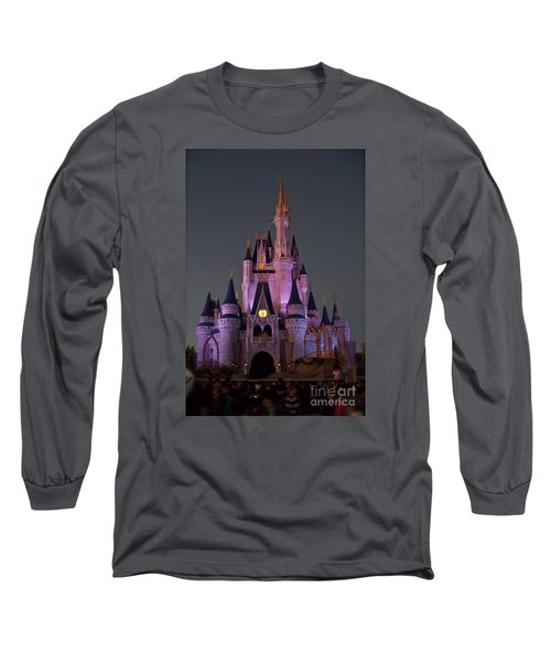 Long Sleeve T-Shirt featuring the photograph Castle At Twilight by Carol  Bradley