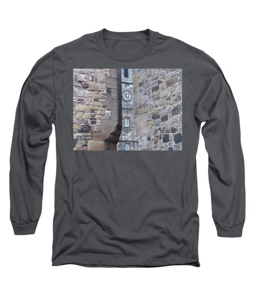 Castle Clock Through Walls Long Sleeve T-Shirt by Margaret Brooks