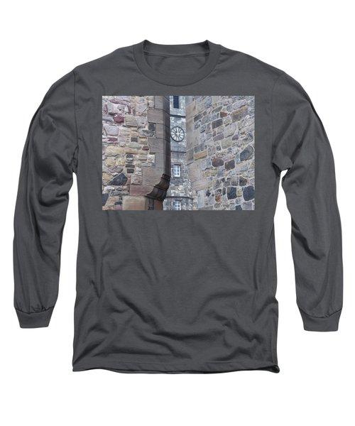 Castle Clock Through Walls Long Sleeve T-Shirt