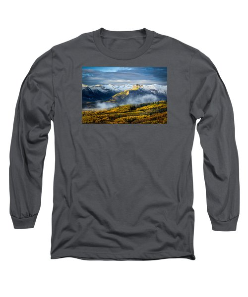 Castle In The Clouds Long Sleeve T-Shirt by Phyllis Peterson