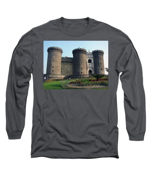 Castle Nuovo Naples Italy Long Sleeve T-Shirt