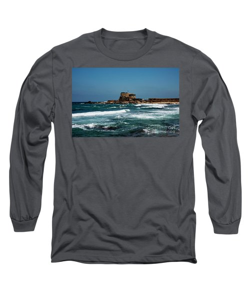 Long Sleeve T-Shirt featuring the photograph Castle Of Herod The Great by Mae Wertz
