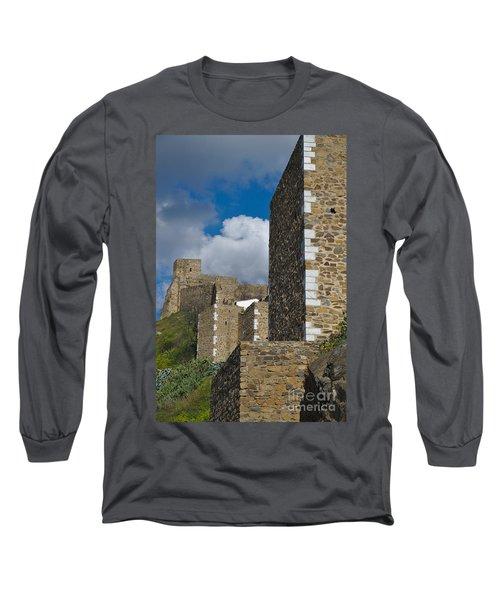 Castle Wall In Alentejo Portugal Long Sleeve T-Shirt