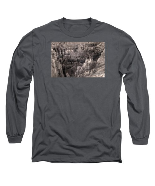 Long Sleeve T-Shirt featuring the digital art Castles Made Of Sand In The Hoodoos  by William Fields