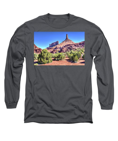 Long Sleeve T-Shirt featuring the photograph Castleton Tower by Alan Toepfer