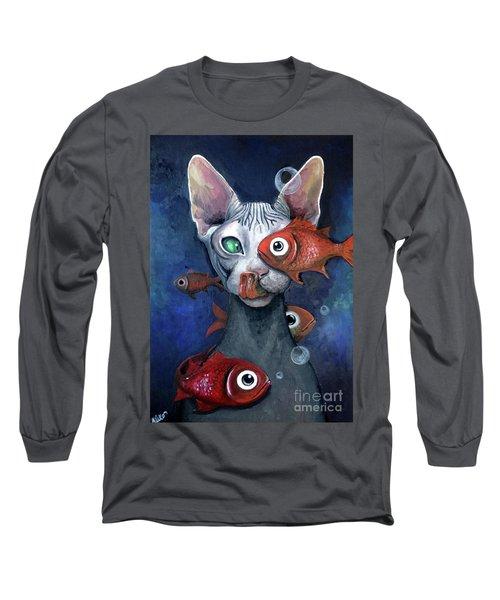 Cat And Fish Long Sleeve T-Shirt