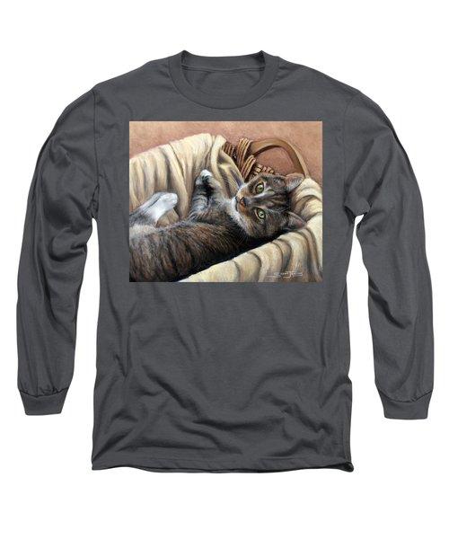 Cat In A Basket Long Sleeve T-Shirt