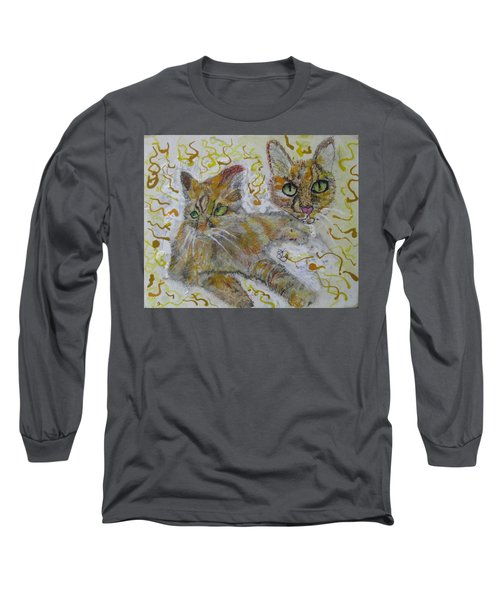 Long Sleeve T-Shirt featuring the painting Cat Named Phoenicia by AJ Brown