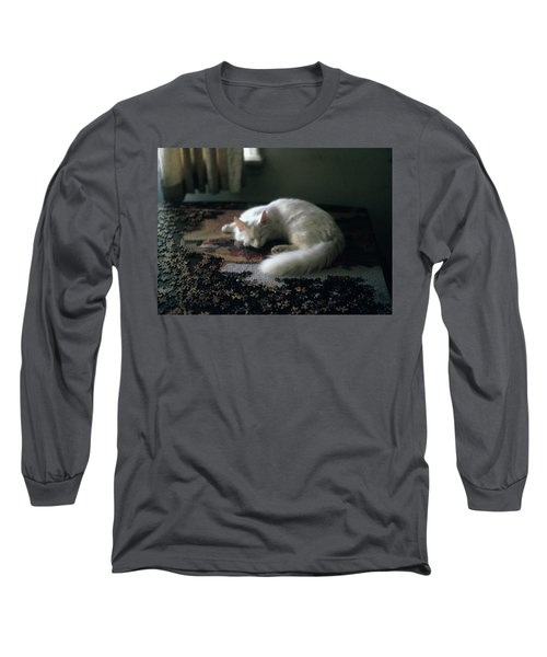 Cat On A Puzzle Long Sleeve T-Shirt