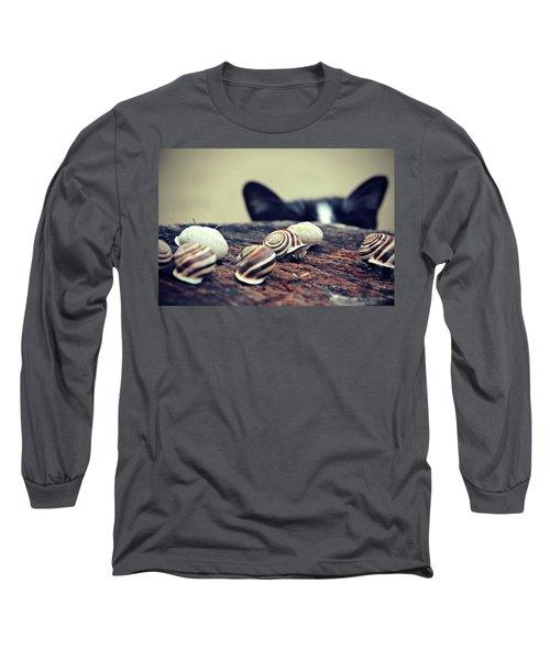 Cat Snails Long Sleeve T-Shirt