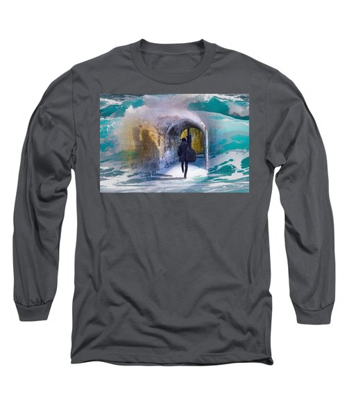 Catching The Tube With My Guitar Long Sleeve T-Shirt