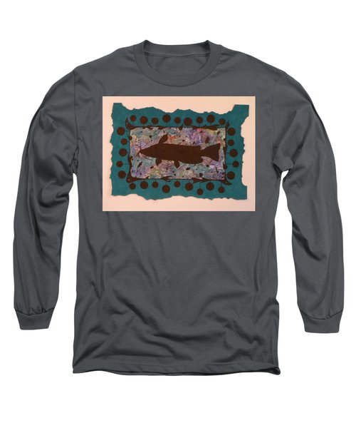 Catfish Silhouette Long Sleeve T-Shirt