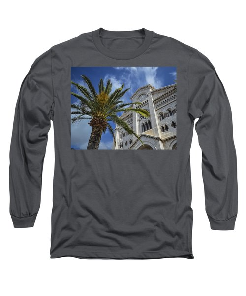 Long Sleeve T-Shirt featuring the photograph Cathedral At Monte Carlo by Allen Sheffield