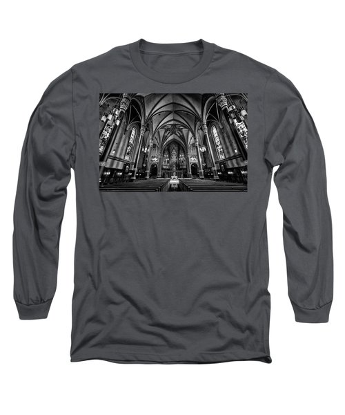 Cathedral Of The Madeline In Black And W Long Sleeve T-Shirt