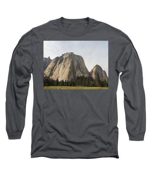 Cathedral Spires Yosemite Valley Yosemite National Park Long Sleeve T-Shirt