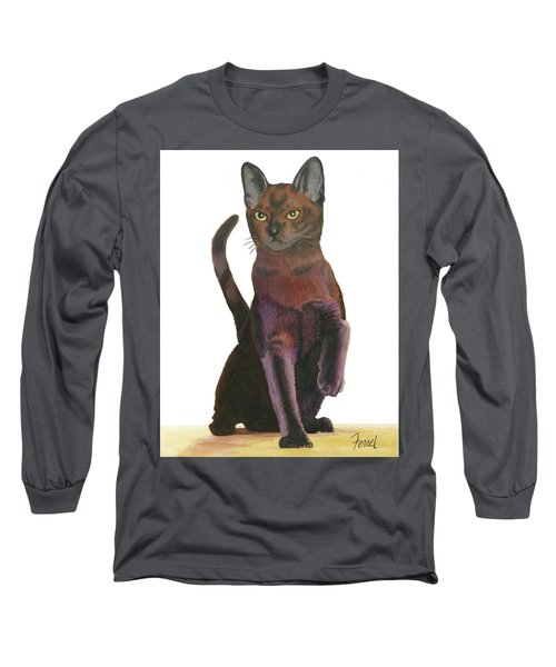 Long Sleeve T-Shirt featuring the painting Cats Meow by Ferrel Cordle
