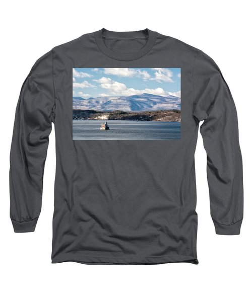 Catskill Mountains With Lighthouse Long Sleeve T-Shirt