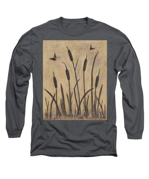 Cattails 2 Long Sleeve T-Shirt by Trish Toro