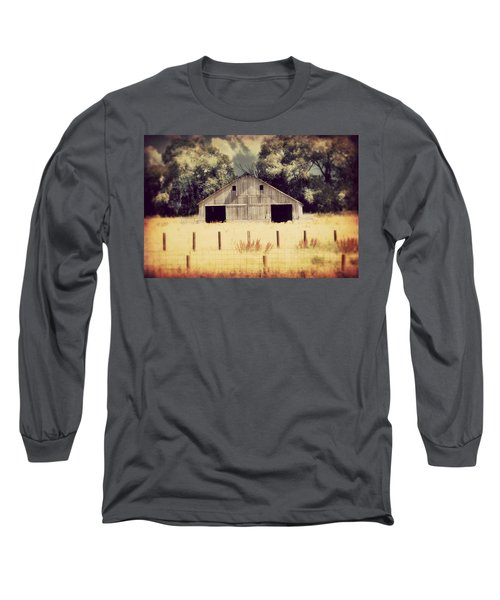 Long Sleeve T-Shirt featuring the photograph Hwy 3 Barn by Julie Hamilton