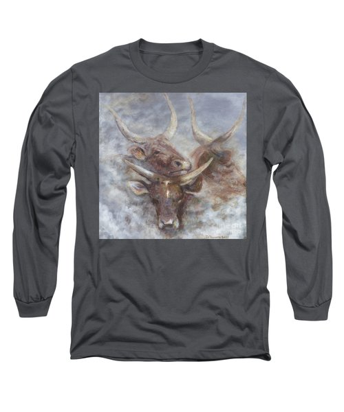 Cattle In The Mist Long Sleeve T-Shirt