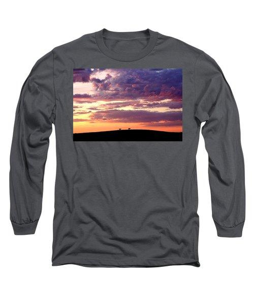 Cattle Ridge Sunset Long Sleeve T-Shirt