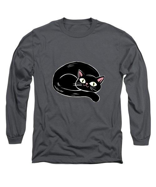 Cattywampus Black Cat Pattern Long Sleeve T-Shirt