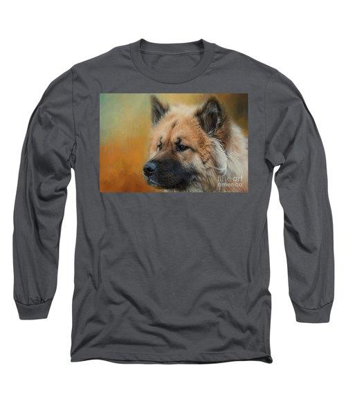 Caucasian Shepherd Dog Long Sleeve T-Shirt by Eva Lechner