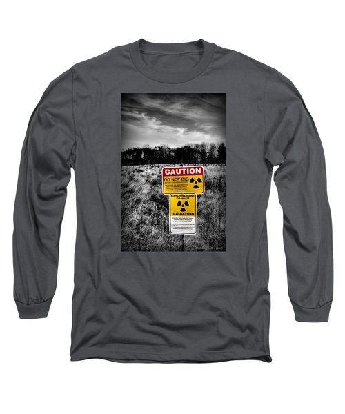 Caution Long Sleeve T-Shirt by Michaela Preston