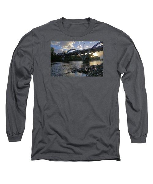 Caveman Bridge At Sunset Long Sleeve T-Shirt