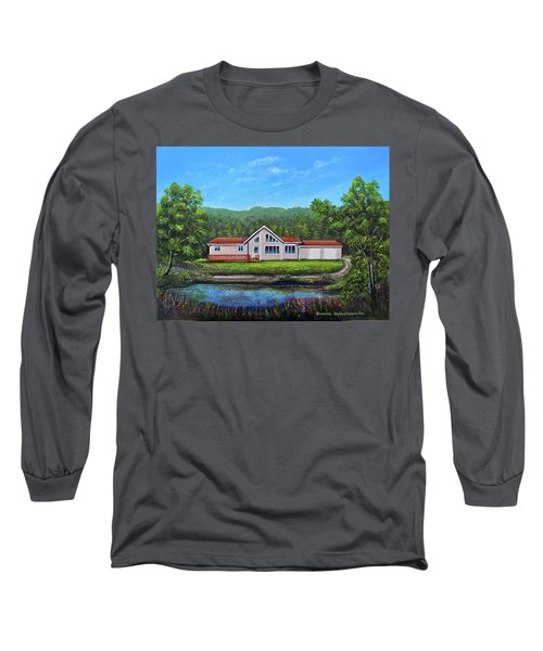 Cavendish House Long Sleeve T-Shirt by Bozena Zajaczkowska
